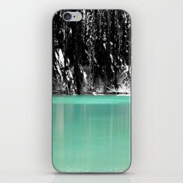 Green Water, Black and White iPhone Skin