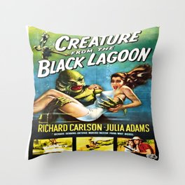 Vintage poster - Creature from the Black Lagoon Throw Pillow