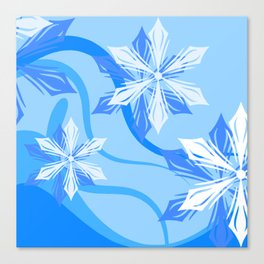 The Flower Abstract Holiday Canvas Print