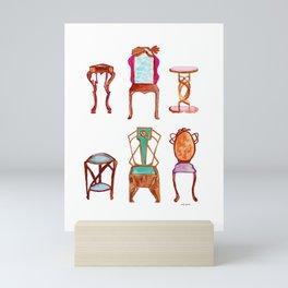 Antique furniture Mini Art Print