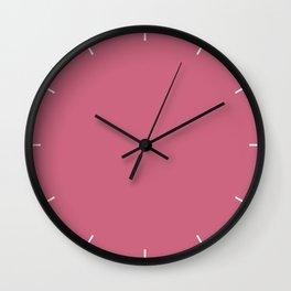 Rapture Rose | Pantone Fashion Color Spring : Summer 2018 | London Solid Color Wall Clock