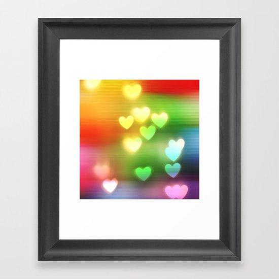 Love in Motion Framed Art Print