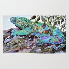 New Caledonia Lizard Art Deco Style Rug