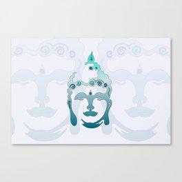 Buddha Head turquoise I Canvas Print