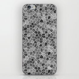 The Paths Taken Black and White Cobblestone Pattern iPhone Skin