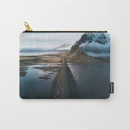 Mountain road in Iceland - Landscape Photography Carry-All Pouch