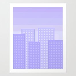 pretty city blue Art Print