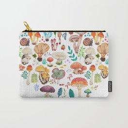 Mushroom heart Carry-All Pouch