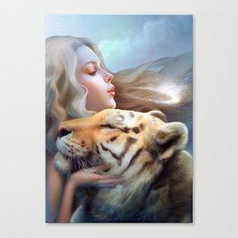 Angel of Tigers Canvas Print