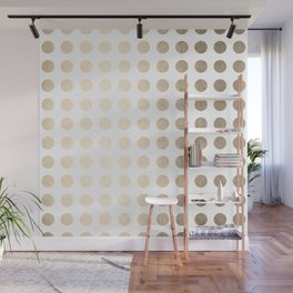 Simply Polka Dots in White Gold Sands Wall Mural