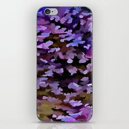 Foliage Abstract In Blue, Pink and Sienna iPhone Skin