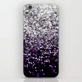 Dark Night Purple Black Silver Glitter #1 #shiny #decor #art #society6 iPhone Skin