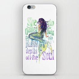Mermaid : Profound Depths iPhone Skin