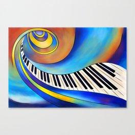 Redemessia - spiral piano Canvas Print