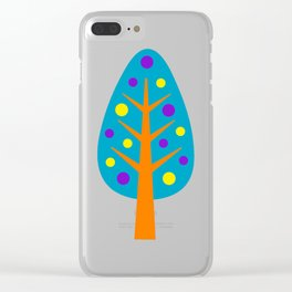 CHRISTMAS TREES_COLORFUL Clear iPhone Case