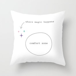 Get Out Of Your Comfort Zone Throw Pillow