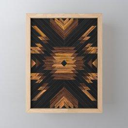 Urban Tribal Pattern No.7 - Aztec - Wood Framed Mini Art Print