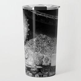 Ivan Caterpillar Track Black and White Travel Mug