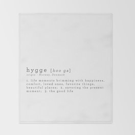 THE MEANING OF HYGGE Throw Blanket