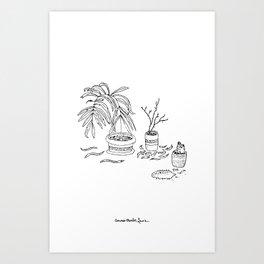 I love my plants Art Print