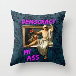 The Death (?) of Socrates Throw Pillow