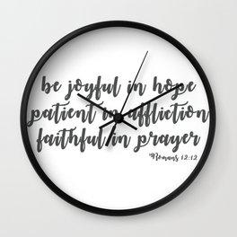 Romans 12:12 Wall Clock
