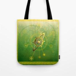 Viridi anu conjunctio spiritualis et luna symbola cum seges circuli Tote Bag