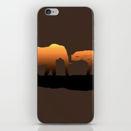 Elephant Sunset iPhone Skin