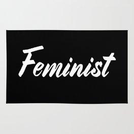 Feminist (on black) Rug