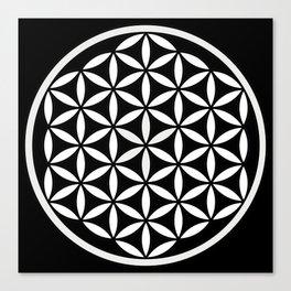 Flower of Life Yin Yang Canvas Print