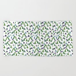 Abstract Watercolor Forest Beach Towel