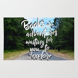 Book Quotes Rug