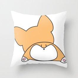 Corgi Butt Throw Pillow