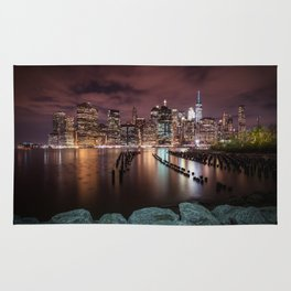 MANHATTAN SKYLINE Evening Atmosphere in New York City Rug