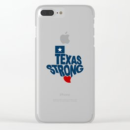 Texas Strong Clear iPhone Case
