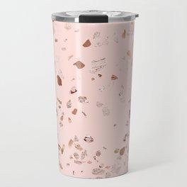 Rose Gold Pink Terrazzo Travel Mug