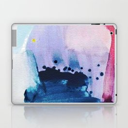 PYT: a minimal abstract mixed media piece on canvas in blues, pink, purple, and white Laptop & iPad Skin