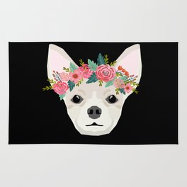 Chihuahua dog breed floral crown chihuahuas lover pure breed gifts Rug