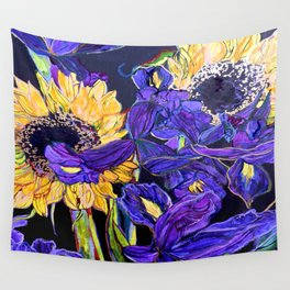 Sunflower & Iris Wall Tapestry