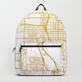 SALT LAKE CITY UTAH CITY STREET MAP ART Backpack