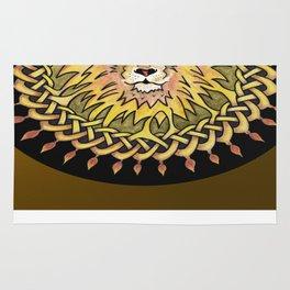 Lion Celtic Knot Mandala Rug