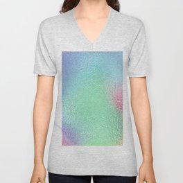 Simply Metallic in Holographic Rainbow Unisex V-Neck
