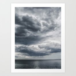 Storm Clouds Rolling In Art Print