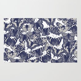 butterfly white Rug