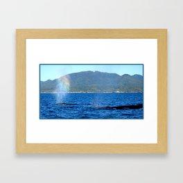 Colorful Blow Framed Art Print