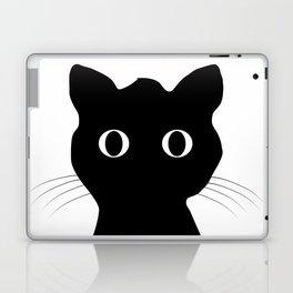Black eyes cat Laptop & iPad Skin