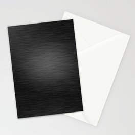 Dark Brushed Metal texture Stationery Cards