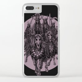 """The four horsemen of the apocalipse"" Clear iPhone Case"
