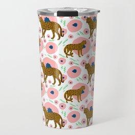 Cheetahs in Flowers Travel Mug