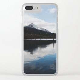 Snow-capped Reflections Clear iPhone Case